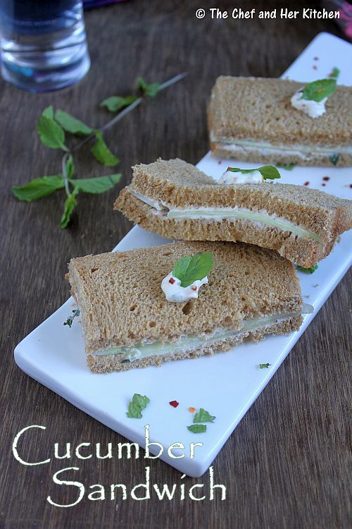 sour cream cucumber sandwich
