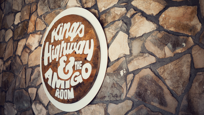 Kings Highway Diner and the Amigo Room Sign at Ace Hotel Palm Springs
