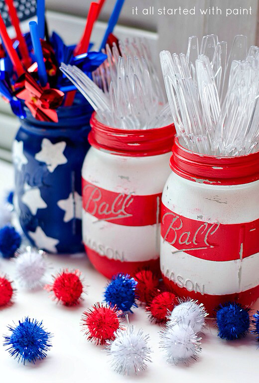 Red white and Blue- The Style Sisters Centerpiece Wednesday Linky Party