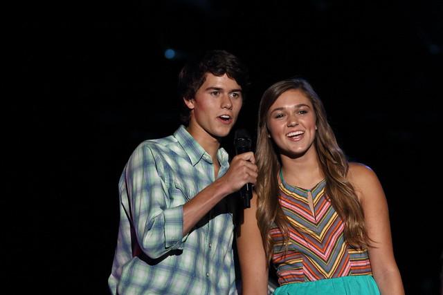 John Luke and Sadie Robertson - LP Field - CMA Fest 2013 - Nashville