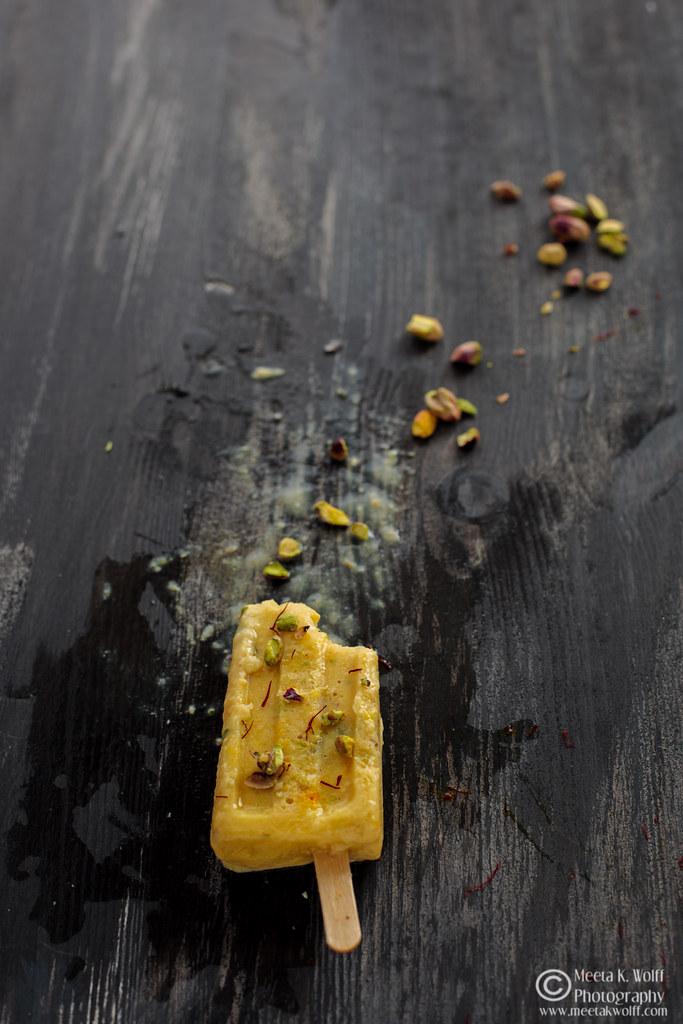 Saffron Mango Pistachio Kulfi (109) by Meeta K. Wolff