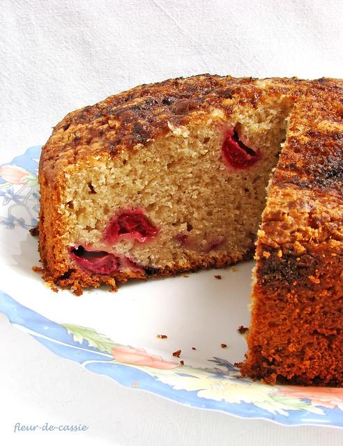 вишневый сметанный пирог 2