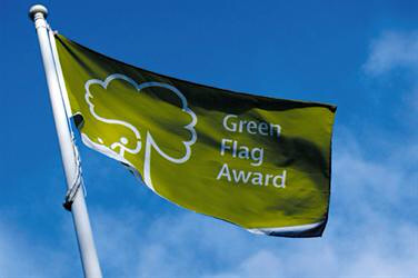 Green Flag Award Flag Raised