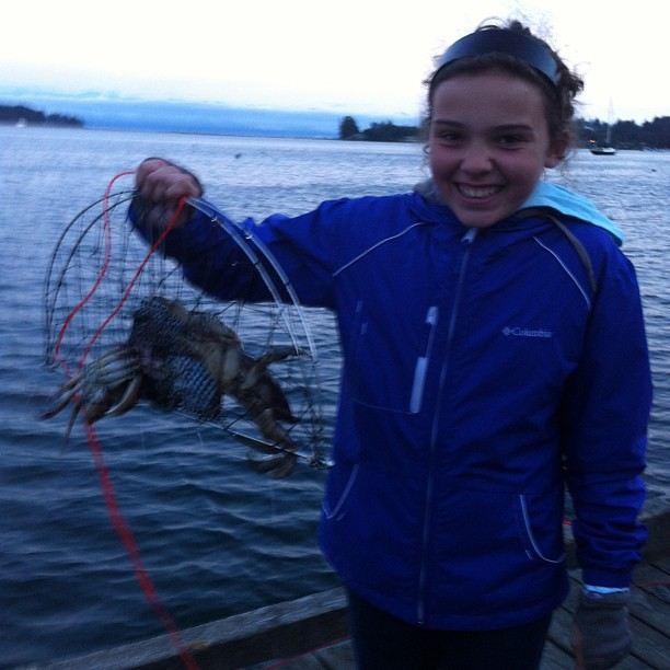 My mom sent me this photo from Victoria last night. Kaylie caught, among other things, a crab yesterday evening. Miss this kid!