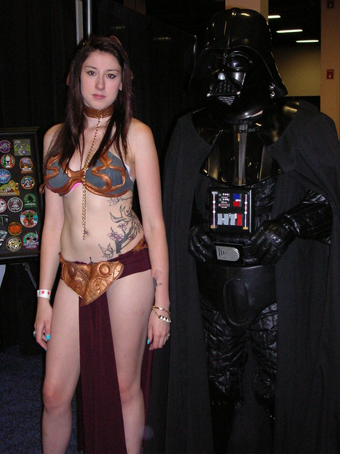 Tall Leia and Darth Vader
