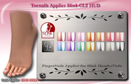 ((Crystal Line))-Toenails Applier Slink-CL2 HUD POP