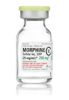 morphine iv 25mg 10ml vial Hospira