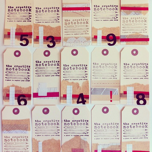 The Creative Notebook business cards, tags