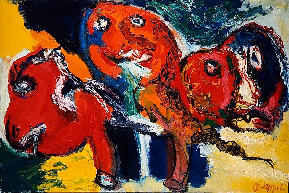karel appel – czerwony jeździec