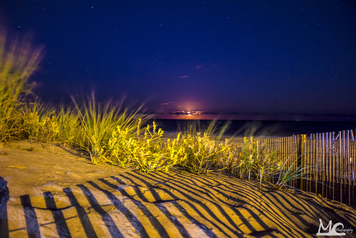 ocean city moon beach md long exposure ocmd