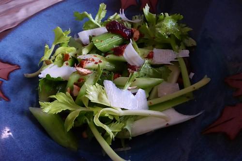 Celery Salad with Dates, Almonds, and Parmesan Bernice