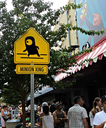 Minion Crossing Sign at Despicable Me