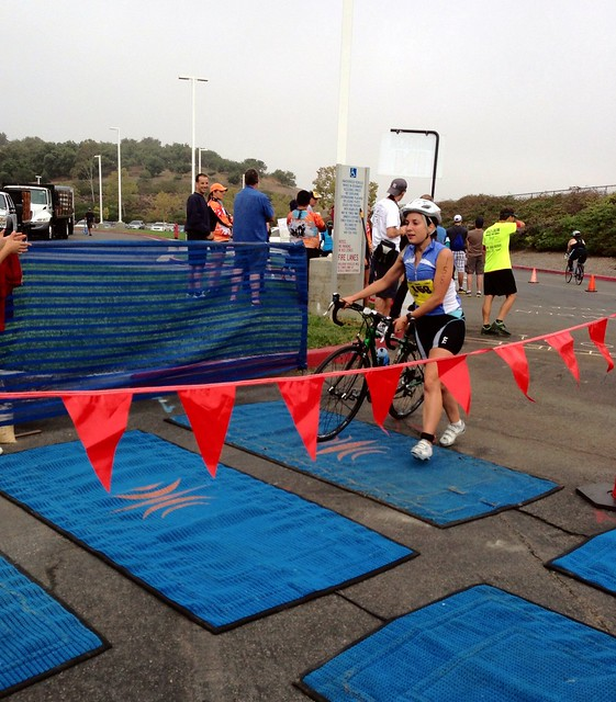 @FasterBunny at T2 at the 2013 iTRYathlon
