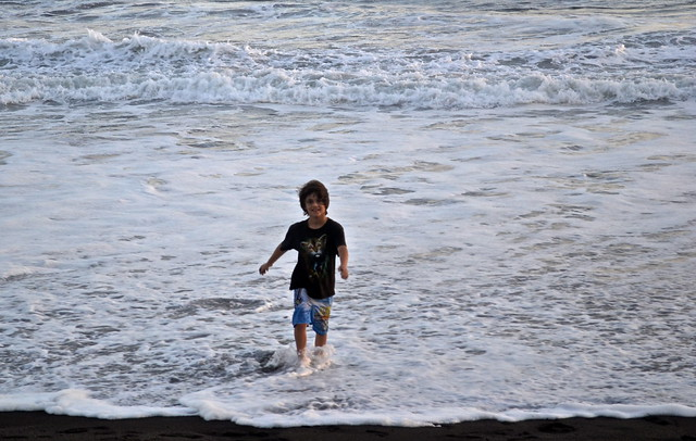 Playing in the Surf - Monterrico Beac