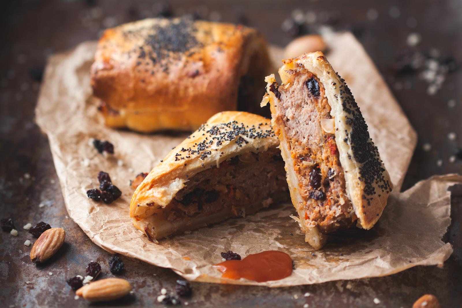 Lamb, Almond & Harissa Sausage Rolls