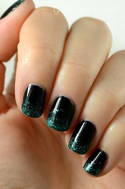 Deborah Lippmann Wicked One Short Day nail art
