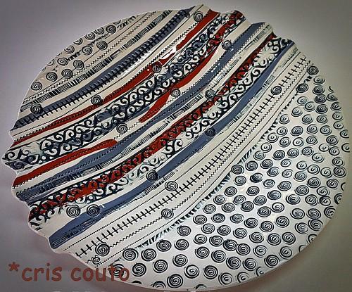 Pratos com argilas coloridas by cris couto 73