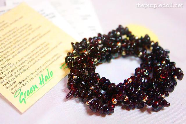 Green Halo Garnet Crystal Bracelet (P700)