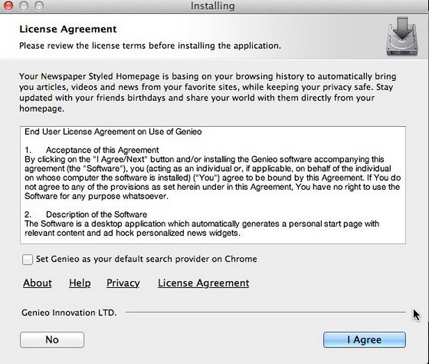 Genieo Adware Installer for Mac