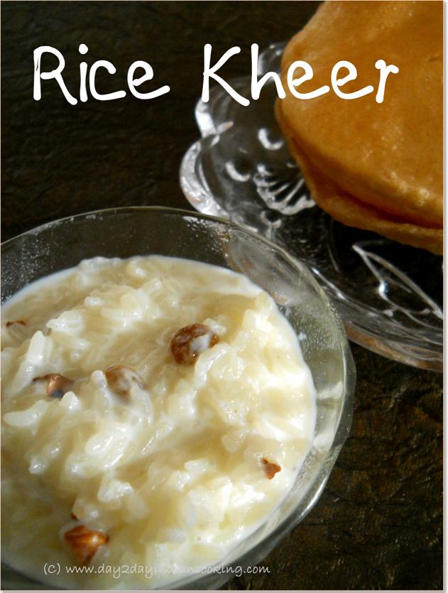 instructions for making rice kheer