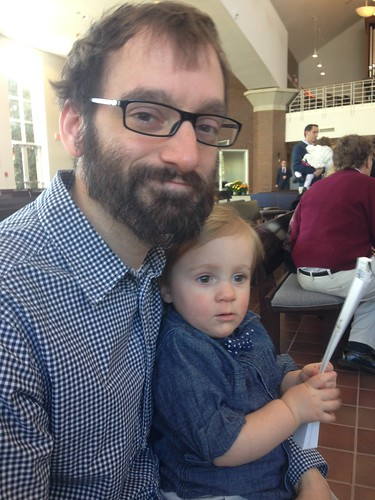 Martin and Daddy at Evelyn's Baptism