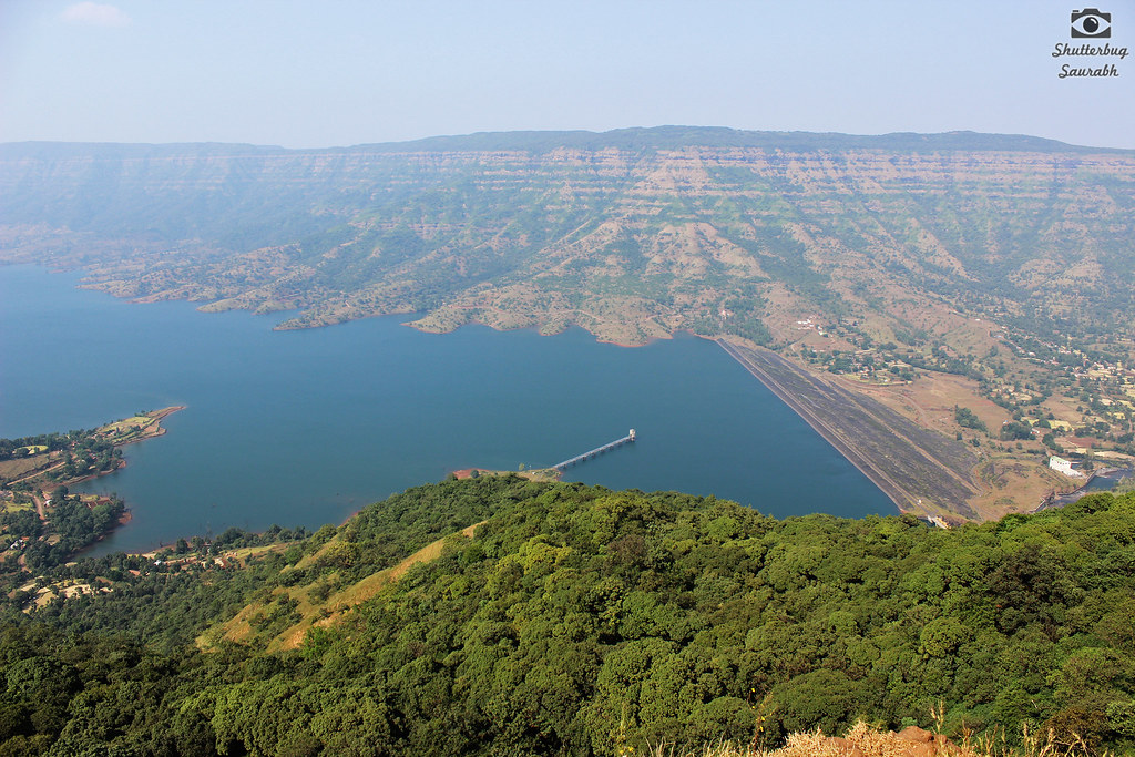 Dhom Dam from Kate's Point. Dhom dam is a famous location for film shootings.