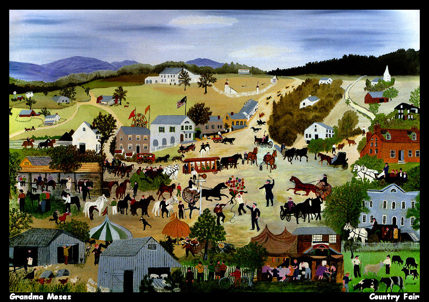 Grandma Moses - Country Fair