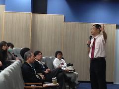 台大教授張文亮在宜蘭大學演講。