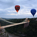 Ballons over Clifton Suspension Bridge by steve drummond