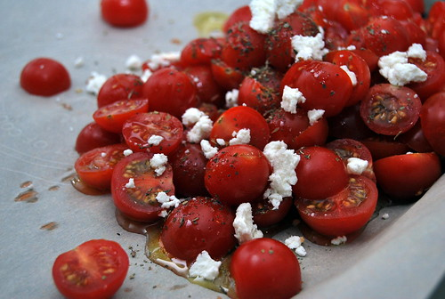 Roasted Tomatoes and Baked Goat Cheese-001