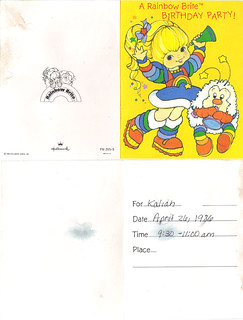 "Hallmark Cards :: ""A Rainbow Brite BIRTHDAY PARTY!"" i (( 1986 ))"