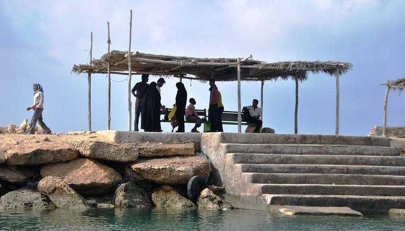 35 embarcadero para la Isla de Hengam