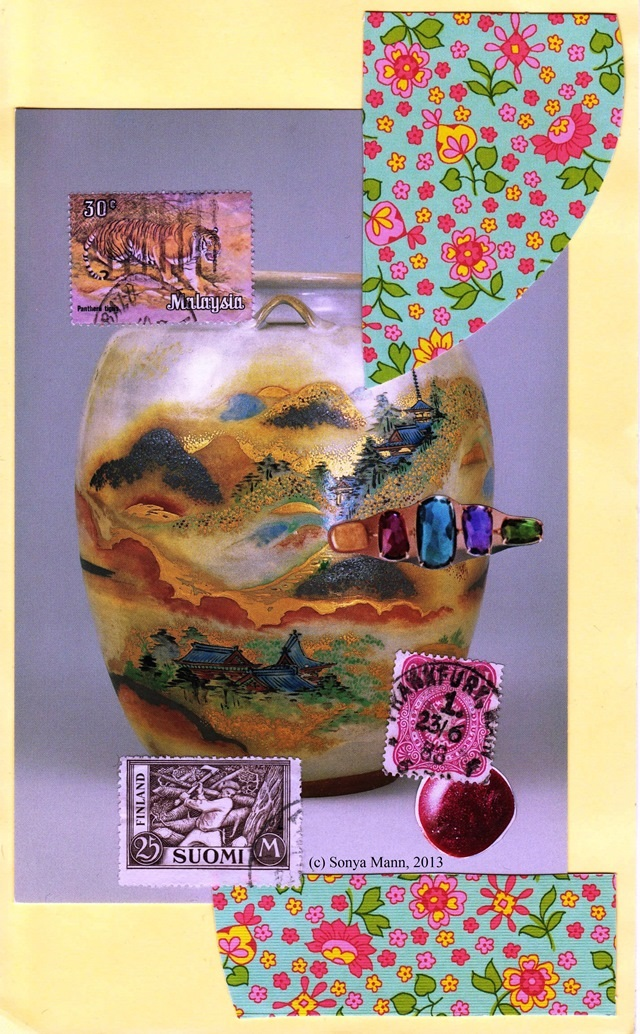 Japanese Vase Collage 12/10/2013