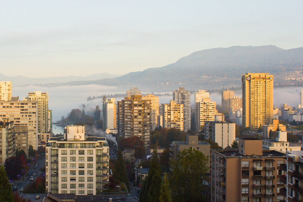 Thursday, October 17: Our last day in Vancouver. We woke up to fog covering the city, it was quite incredible to see from our high balcony! We met with Janine & wandered around Kitsilano, the beach, and saw the 100 foot centennial totem.