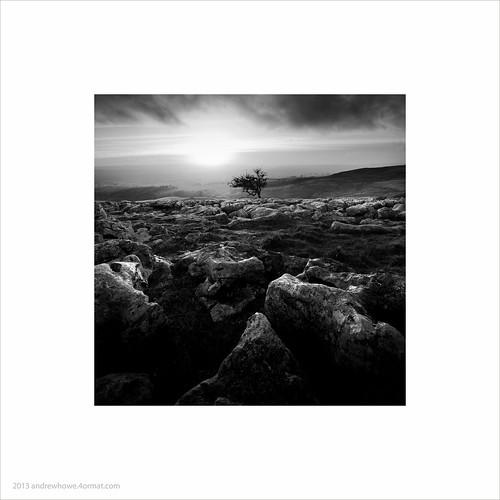 uk sunset england sky blackandwhite square landscape mono rocks fineart limestone northyorkshire ingleton andrewhowe twistleton twistletonscar