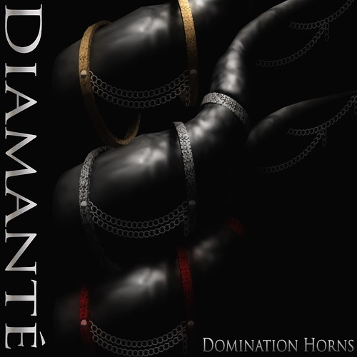 :Diamante: Domination Horns by Alliana Petunia