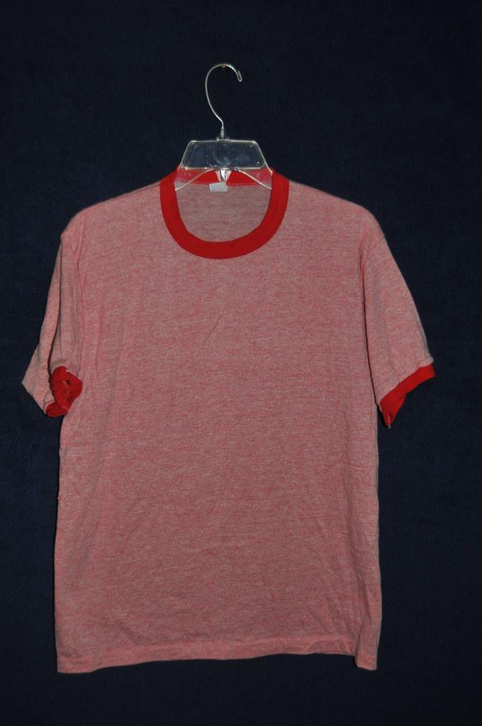 vtg 39 70s tri blend sportswear heather red blank soft ringer t shirt med. Black Bedroom Furniture Sets. Home Design Ideas