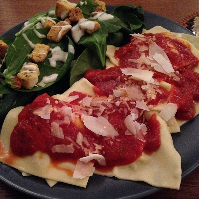 Homemade ravioli tonight!  :)
