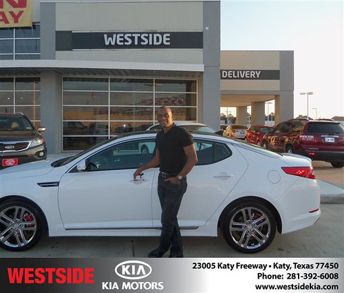 Happy Anniversary to Alton Carrington on your 2013 #Kia #Optima from Jerry Moore  and everyone at Westside Kia! #Anniversary by Westside KIA