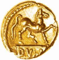 CVNO-DVBN gold quarter stater reverse