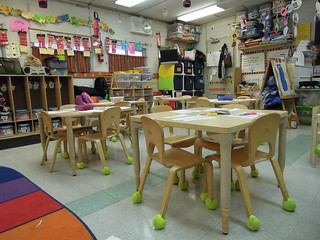 a pre-k classroom at PS 261 in Brooklyn