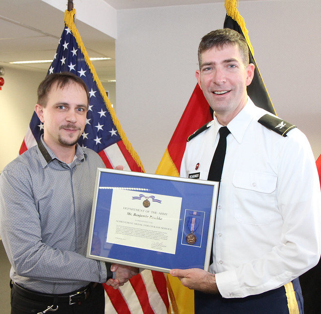 District honors employee for work on Mission Command Center