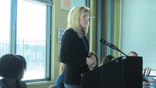 Tracy Johnson from Tempo Milwaukee at our Behind the Headlines: The Business Case for Promoting Women on Feb. 6, 2014.