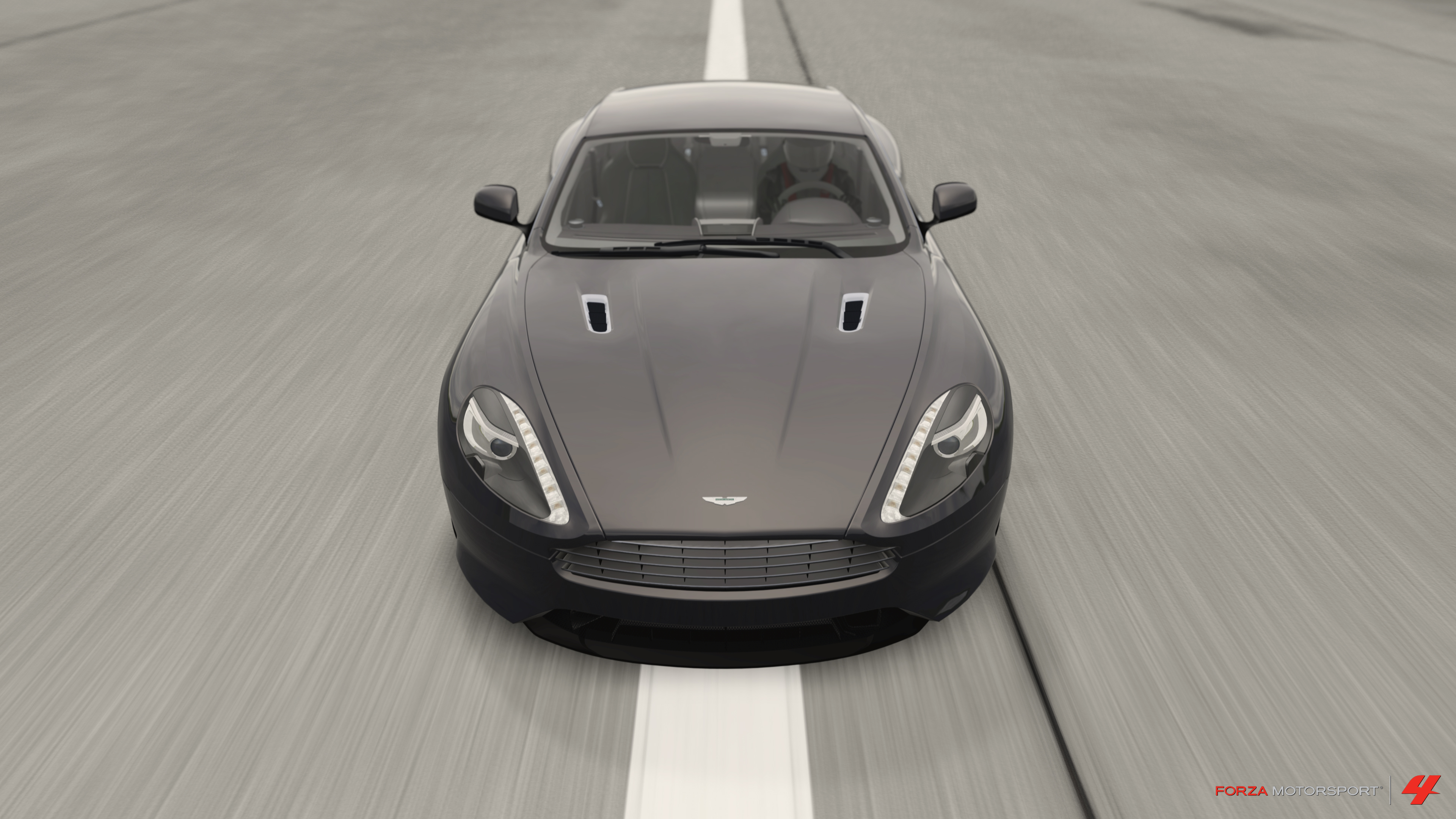 Aston Virage at the airstrip