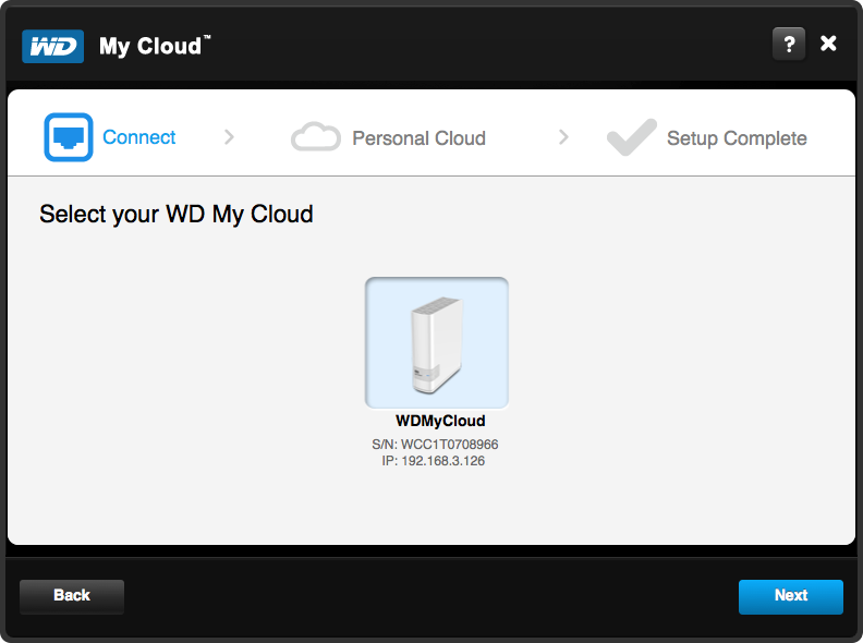 WD My Cloud Setup - Step 3