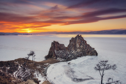 winter sunset lake snow cold ice nature frozen nikon russia wideangle d800 landscap lakebaikal olkhonisland shamanstone inhiu