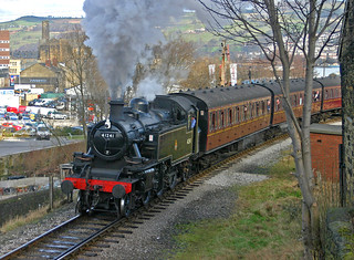 Ivatt Tank Leaving Keighley.