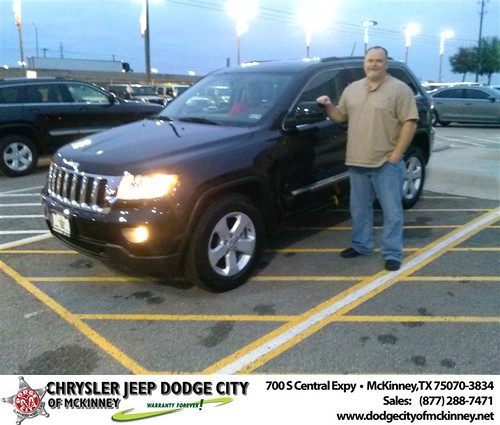 Happy Anniversary to Patrick Emerson on your 2013 #Jeep #Grand Cherokee from David Walls  and everyone at Dodge City of McKinney! #Anniversary by Dodge City McKinney Texas