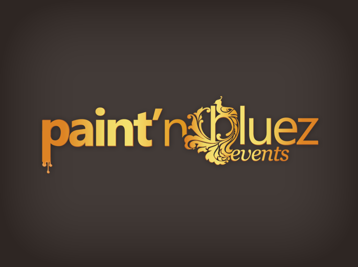 paint n bluez logo design