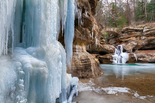 Upper Falls in Partial Freeze